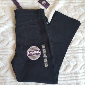 Gloria Vanderbilt Amanda black straight leg jean